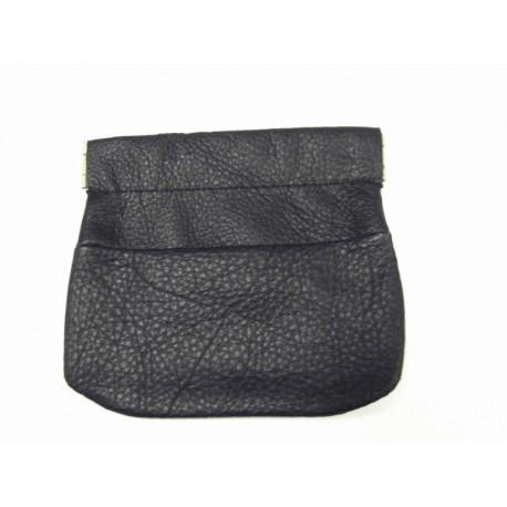 Kožená peněženka na drobné Krol ( drobněnka Pick-Pack ) 9616 černá