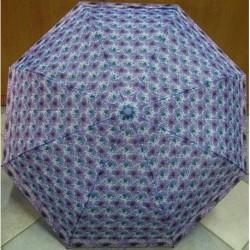 Deštník sládací Perletti 25729 fialový s květy