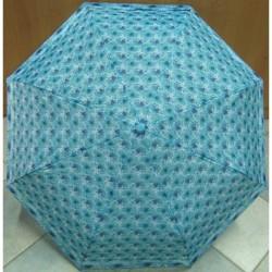 Deštník sládací Perletti 25729 tyrkysový s květy
