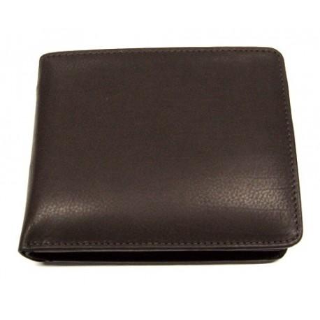 KROL 8013 hnědá kožená peněženka
