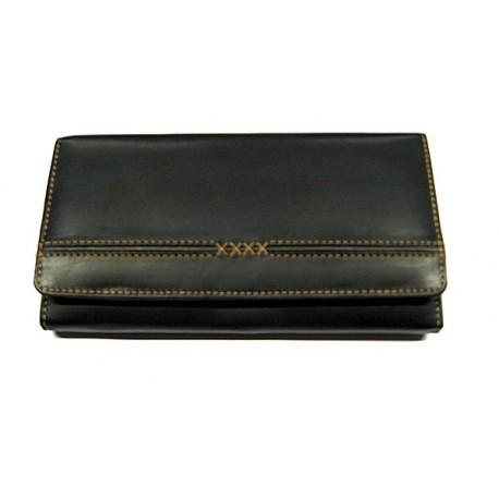 KROL 6091 černá dámská kožená peněženka