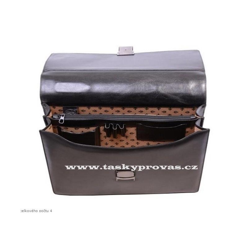 ... Hajn elegantní pánská kožená aktovka 123501 černá 208b87d5e89