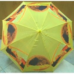 Deštník holový vystřelovací dětský Falconetti CN 750A žlutý/ kočky