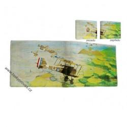 Kožená peněženka DD S 914-99 zelená/bílá
