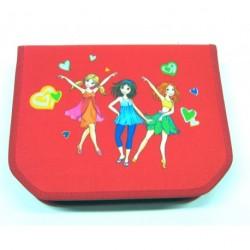 Školní penál Herlitz s trojhrannými pastelkami 11075322 Tanečnice/červená
