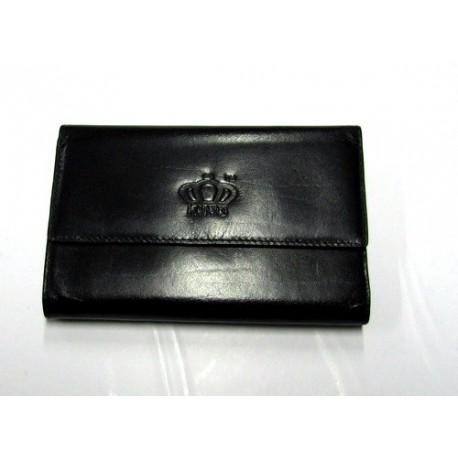 Peněženka kožená KING 1680099 SL-19 černá