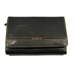 KROL 6087 černá kožená dámská peněženka