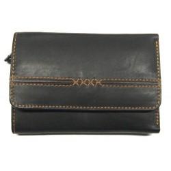 KROL 6014 černá dámská kožená peněženka