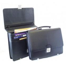 Kožená aktovka Arwel 112-6003 černá