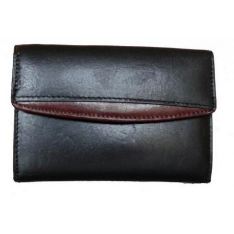 Peněženka kožená Cosset B 005 černá/hnědá