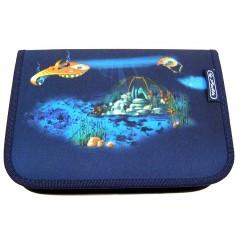 Školní penál Herlitz I.vybavený 11280708 Podmořský svět/modrý
