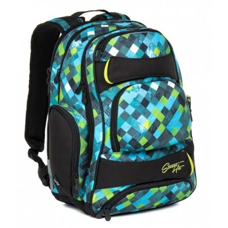 Studentský batoh Topgal - HIT 869 E Green (zelená/modrá)