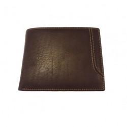 KROL 7094N hnědá kožená peněženka