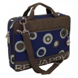Friedrich Lederwaren 89514-5 taška na notebook modrá/hnědá