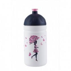 Zdravá lahev Nová generace 0,5 l Dívka s deštníkem (bílá)