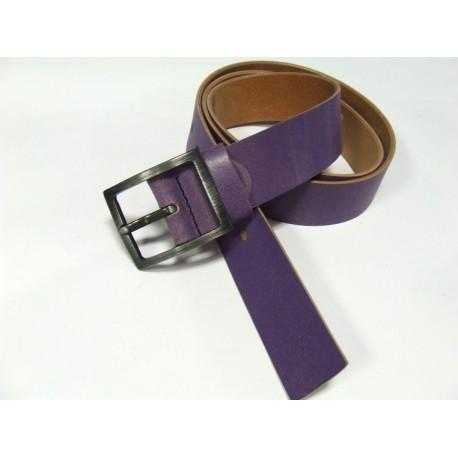 Black kožený opasek 043-61 fialový