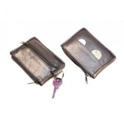 Arwel kožená klíčenka 619-0373 černá