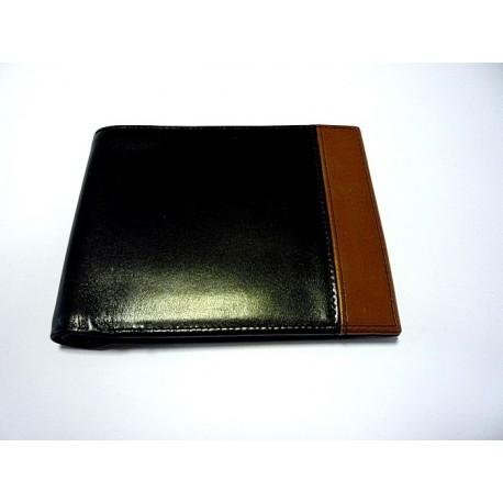 peněženka kožená 2567 černá/hnědá
