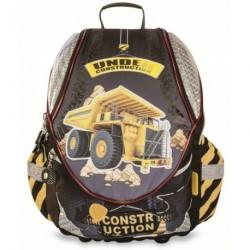 Školní batoh For me 151610 Construction černá/žlutá/náklaďák