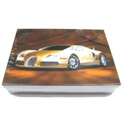 Školní krabice do lavice Bugatti S (hnědá/zlatá) - snížená velikost