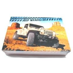 Školní krabice do lavice Jeep Wrangler S modrá/hnědá - snížená velikost