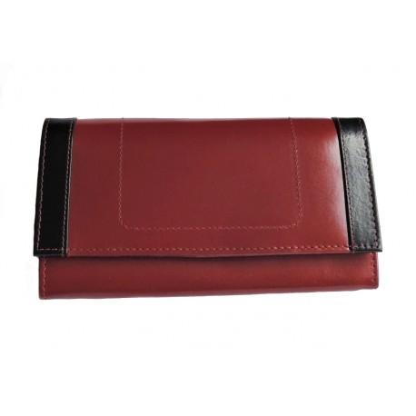 Dámská kožená peněženka Tom 9606-56-75 červená/černá