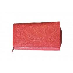 Dámská kožená peněženka DD D 41-37 sv.červená (ražba)