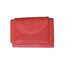 Malá kožená peněženka DD D 919-37 sv.červená (ražba)