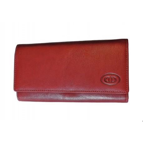 Dámská kožená peněženka DD D 594-07 vínová