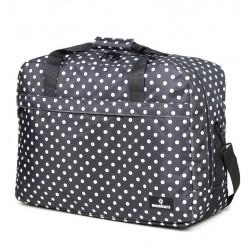 Cestovní taška MEMBER'S SB-0036 - černá/bílá