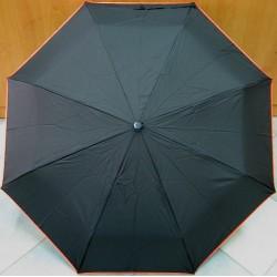 Deštník skládací Blue Drop A370DC černý/ oranžový lem