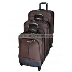 Cestovní kufry sada Silvercase 3 ks.sada 9718 hnědá