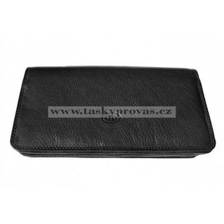 Kožená kasírka DD X2113-01 černá