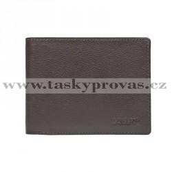 Pánská kožená peněženka Lagen C-22 hnědá