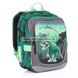 Školní batoh Topgal CHI 842 E Green (zelená/dino)