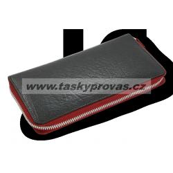 Dámská kožená peněženka Arwel 511-3559-60/31 černá/červená