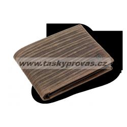 Pánská kožená peněženka Arwel 513-4241-47 hnědá Bambus