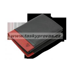 Pánská kožená peněženka Arwel 514-4724 black/red