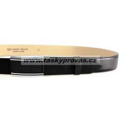 Pánský luxusní kožený společenský opasek s plnou sponou Belts 35-020-A8 černý