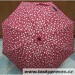 Deštník holový Bargués 5031 červený/ kapky