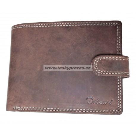 Pánská kožená peněženka Delami 8945 hnědá