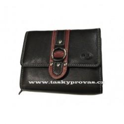 Dámská kožená peněženka DD 1748-81 černá/červená