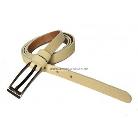 Opasek dámský kožený Penny Belts 15-1-02 béžový