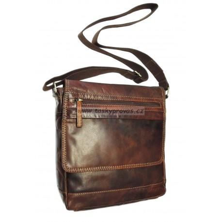 Kožená taška přes rameno Lagen 22014 hnědá TAN