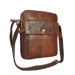 Kožená taška přes rameno Lagen 22021 hnědá TAN