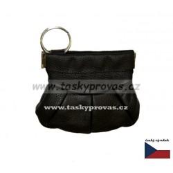 Kožená peněženka na drobné ( drobněnka Pick-Pack ) Hajn 500801 černá