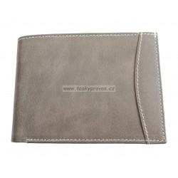 Pánská kožená peněženka Tom 347-84 šedá