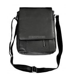 Kožená taška přes rameno Tom 225/60 černá