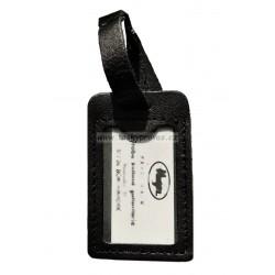 Kožená visačka na zavazadlo Hajn 291201.0 černá hl.