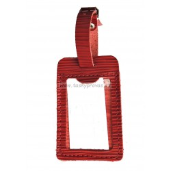 Kožená visačka na zavazadlo Hajn 291201.0 červená